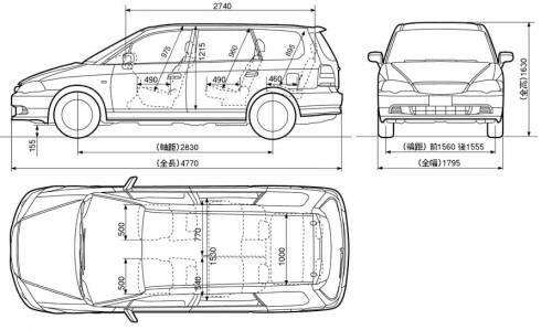 blueprints cars honda honda odyssey. Black Bedroom Furniture Sets. Home Design Ideas