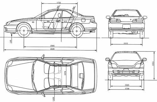 blueprints  u0026gt  cars  u0026gt  honda  u0026gt  honda prelude  1999
