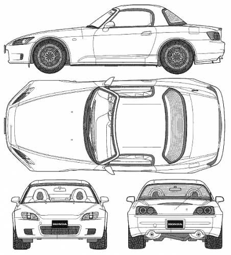 free honda s2000 coloring pages