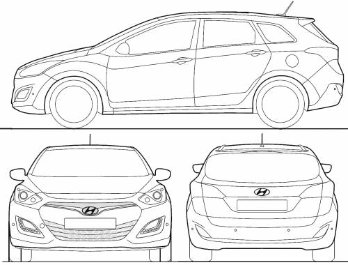 the blueprints cars hyundai hyundai i30 tourer 2013. Black Bedroom Furniture Sets. Home Design Ideas