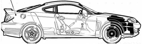 blueprints cars hyundai hyundai tiburon gt v6 2002 hyundai tiburon gt v6 2002