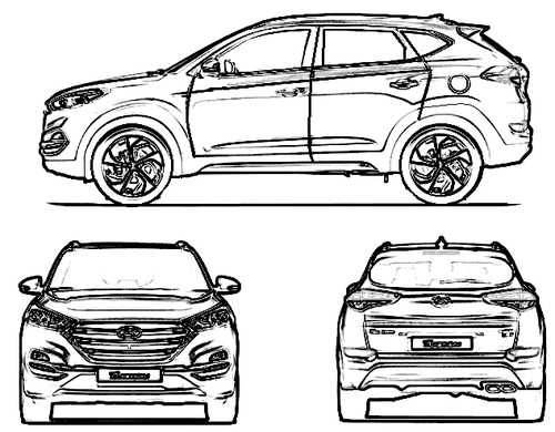 blueprints cars hyundai hyundai tucson 2015. Black Bedroom Furniture Sets. Home Design Ideas