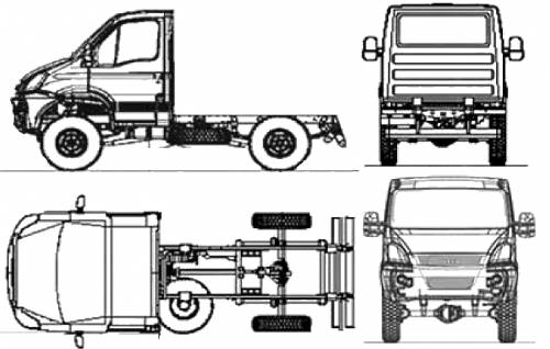 the blueprints cars iveco iveco daily 4x4 35s17w 2010. Black Bedroom Furniture Sets. Home Design Ideas