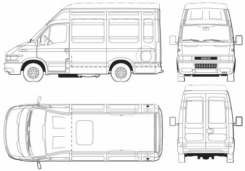 ford iveco lwb dimensions