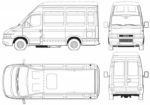blueprints cars iveco iveco daily 65c17 van. Black Bedroom Furniture Sets. Home Design Ideas