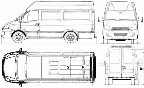 the blueprints cars iveco iveco ecodaily 35c15 furgone mecbal 2010. Black Bedroom Furniture Sets. Home Design Ideas