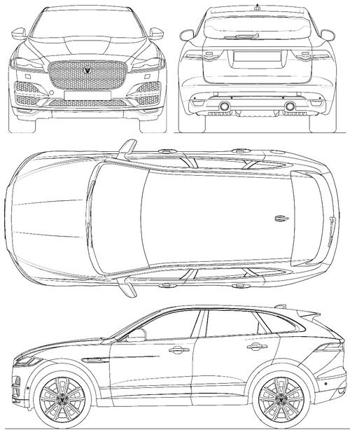 the blueprints cars jaguar jaguar f pace 2015. Black Bedroom Furniture Sets. Home Design Ideas