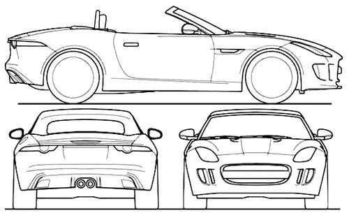 Line Drawing Jaguar : The blueprints vector requests jaguar f type