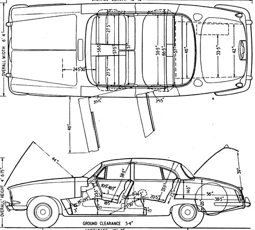 blueprints  u0026gt  cars  u0026gt  jaguar  u0026gt  jaguar mk x  1962