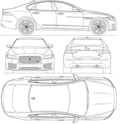 The Blueprints Cars Jaguar Jaguar