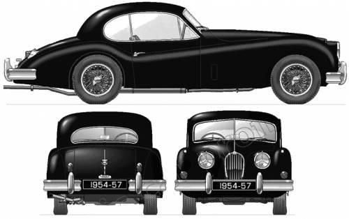Jaguar Xk140. Jaguar XK140 Coupe (1954)