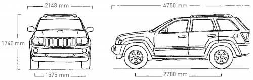 Jeep Grand Cherokee Dimensions Fhoto