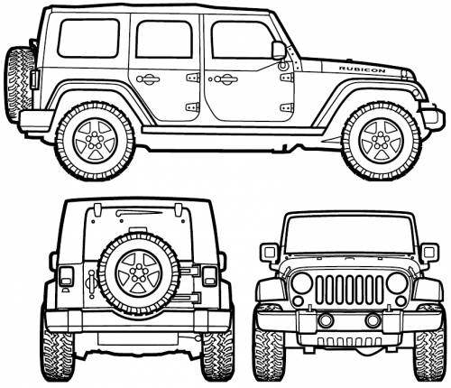 Blueprints > Cars > Jeep > Jeep Wrangler Unlimited (2007)