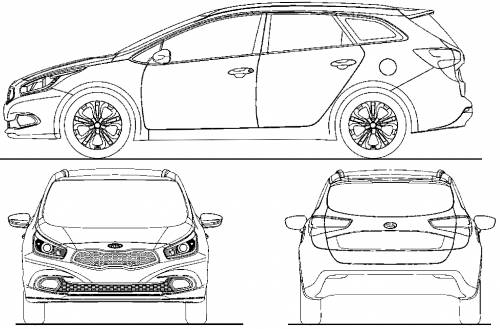 the blueprints cars kia kia cee 39 d. Black Bedroom Furniture Sets. Home Design Ideas