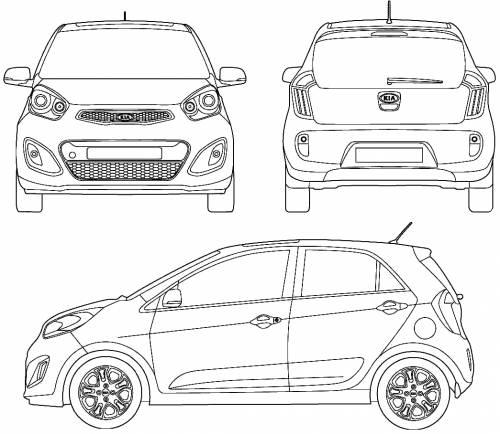 blueprints cars kia kia picanto 2011. Black Bedroom Furniture Sets. Home Design Ideas