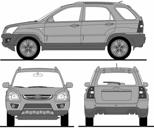 the blueprints cars kia kia sportage 2009. Black Bedroom Furniture Sets. Home Design Ideas