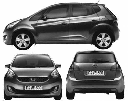 the blueprints cars kia kia venga 2010. Black Bedroom Furniture Sets. Home Design Ideas