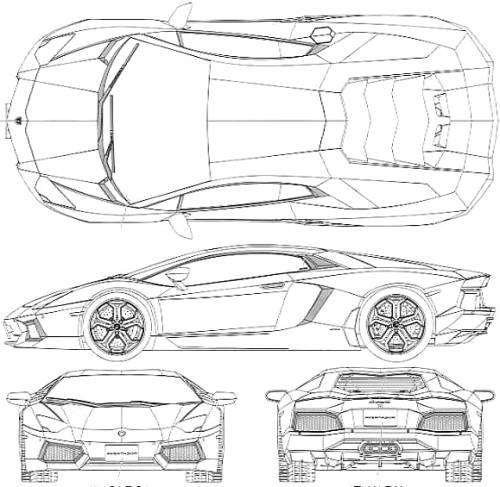 Blueprints cars lamborghini lamborghini aventador lp 700 4 2012 lamborghini aventador lp 700 4 2012 malvernweather Images