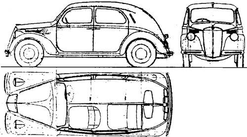 Blueprints > Cars > Lancia > Lancia Ardea Berlina (1939)