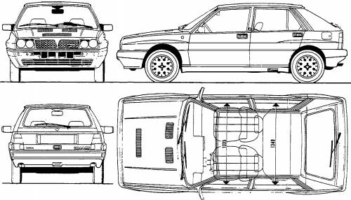 Lancia Delta Rally Car. Dominance and rally cars often
