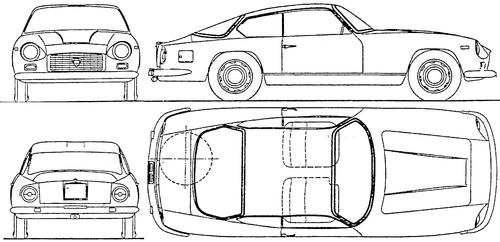 Blueprints > Cars > Lancia > Lancia Flaminia 3C 2.8 Super Sport (1963)