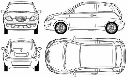 Blueprints > Cars > Lancia > Lancia Ypsilon (2003)