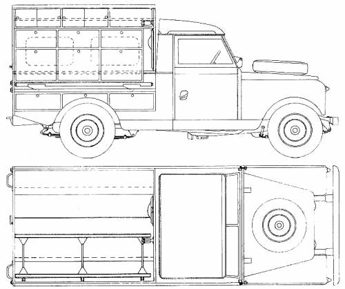 Blueprints > Cars > Land Rover > Land Rover 109 S2 Pick-up (1959)