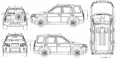the blueprints pkw land rover land rover freelander 2004. Black Bedroom Furniture Sets. Home Design Ideas