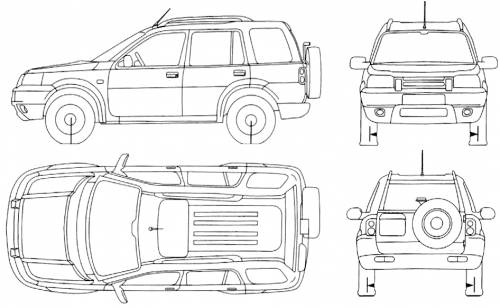 the blueprints cars land rover land rover freelander 5 door. Black Bedroom Furniture Sets. Home Design Ideas