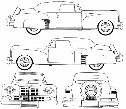 blueprints gt cars lincoln continental convertible pictures