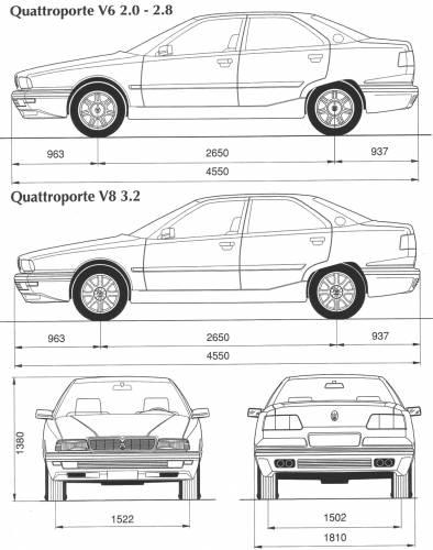 Maserati quattroporte dimensions