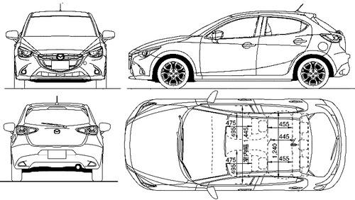 Mazda 2 dimension