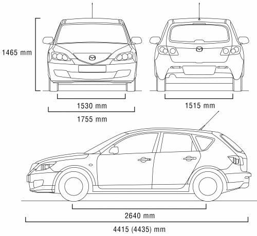 Mazda 3 width