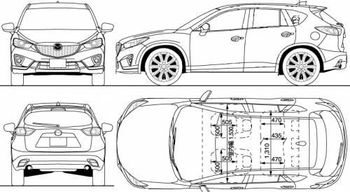 the blueprints cars mazda mazda cx 5 2012. Black Bedroom Furniture Sets. Home Design Ideas