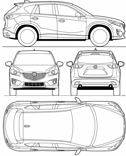Mazda cx 5 width