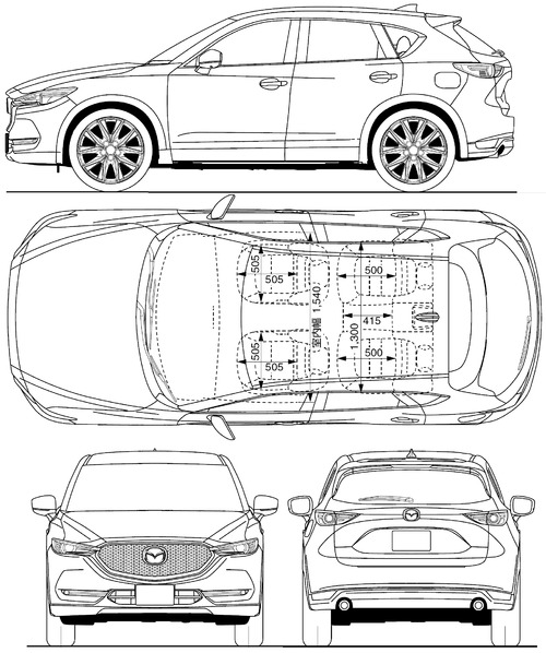 blueprints cars mazda mazda cx 5 s ii 2017. Black Bedroom Furniture Sets. Home Design Ideas