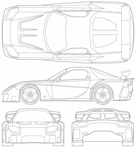 Mazda RX-7 VeilSide Fortune - The fast and the furious