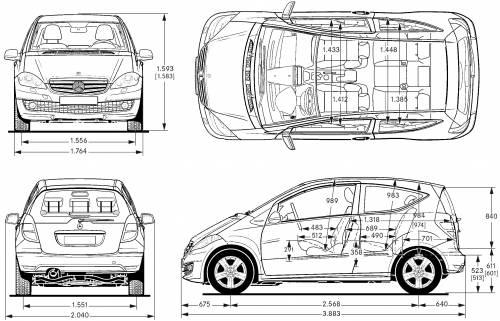 blueprints cars mercedes benz mercedes benz a class. Black Bedroom Furniture Sets. Home Design Ideas