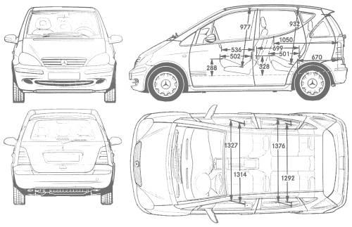 the blueprints cars mercedes benz mercedes benz a class 2004. Black Bedroom Furniture Sets. Home Design Ideas