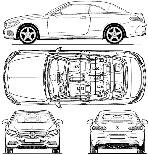 Blueprints cars mercedes benz mercedes benz c class for 2016 mercedes benz c class dimensions