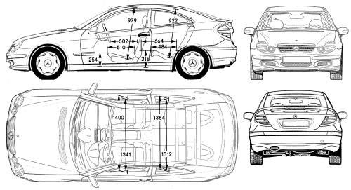 the blueprints cars mercedes benz mercedes benz c class sportcoupe. Black Bedroom Furniture Sets. Home Design Ideas