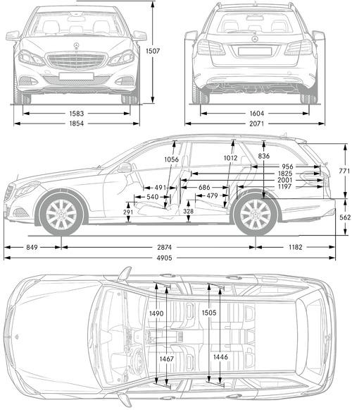 the blueprints cars mercedes benz mercedes benz e class estate s212 2013. Black Bedroom Furniture Sets. Home Design Ideas
