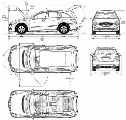 blueprints cars mercedes benz mercedes benz r class. Black Bedroom Furniture Sets. Home Design Ideas