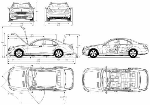 the blueprints cars mercedes benz mercedes benz s class. Black Bedroom Furniture Sets. Home Design Ideas