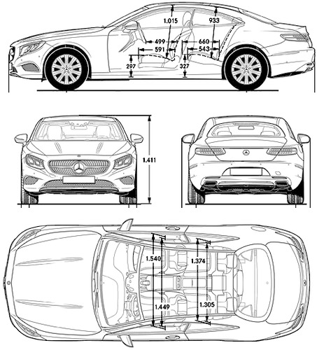 the blueprints cars mercedes benz mercedes benz s class coupe 2014. Black Bedroom Furniture Sets. Home Design Ideas