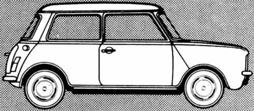 blueprints cars mini mini clubman 1100 1980. Black Bedroom Furniture Sets. Home Design Ideas
