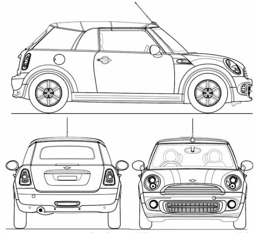 the blueprints cars mini mini cooper convertible 2011. Black Bedroom Furniture Sets. Home Design Ideas