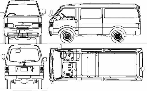 blueprints  u0026gt  cars  u0026gt  mitsubishi  u0026gt  mitsubishi delica cargo van  2010