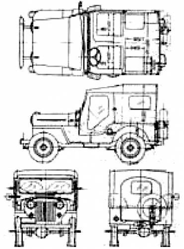 blueprints  u0026gt  cars  u0026gt  mitsubishi  u0026gt  mitsubishi jeep cj3b