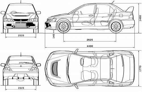 The blueprints blueprints cars mitsubishi mitsubishi mitsubishi lancer evolution ix malvernweather Images